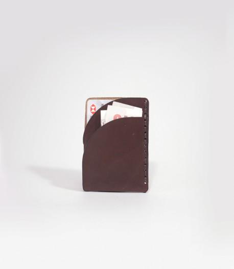 Leather Super Slim Card Holder in Chestnut Brown made by Lost Kind®
