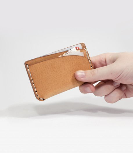 Leather Card Case In Tan Handmade by Lost Kind®